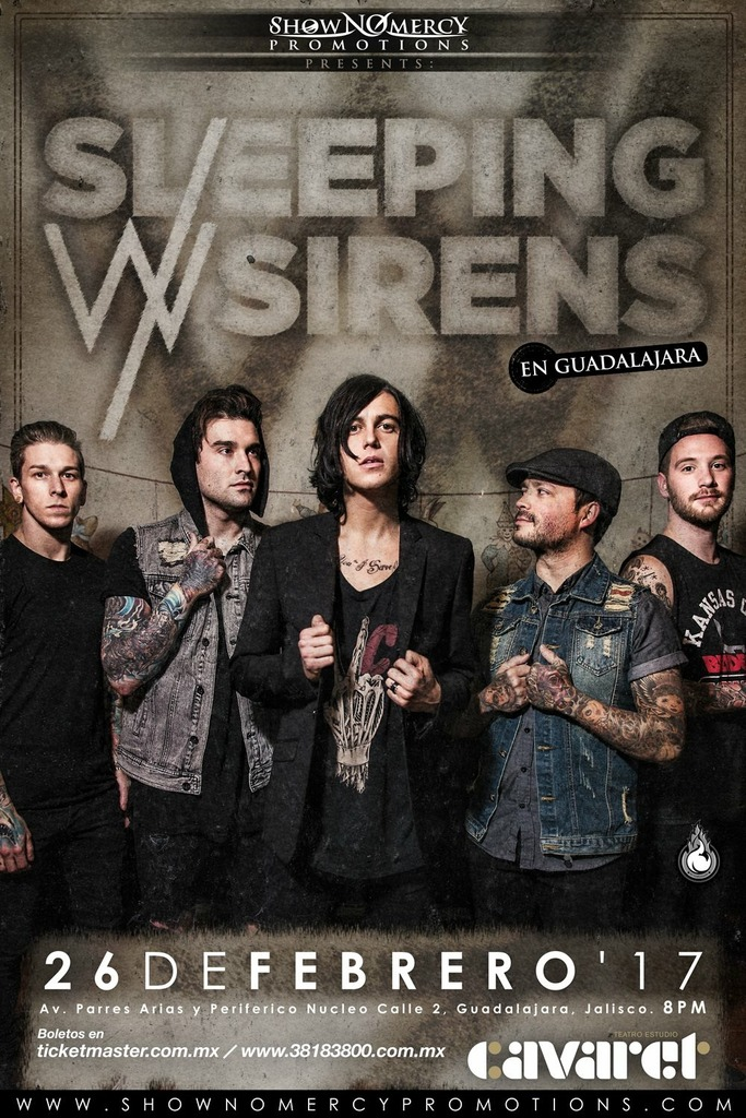 SLEEPING WITH SIRENS - 27 de Febrero @ Teatro Estudio Cavaret