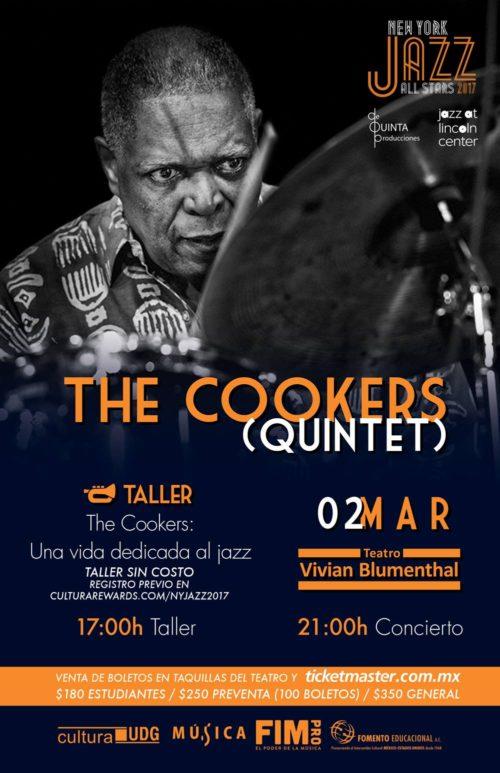 THE COOKERS QUINTET - 2 de Marzo @ Teatro Vivian Blumenthal
