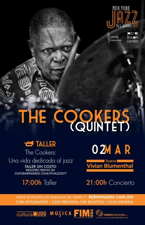 THE COOKERS QUINTET - 2 de Marzo @ Teatro Vivian Blumenthal