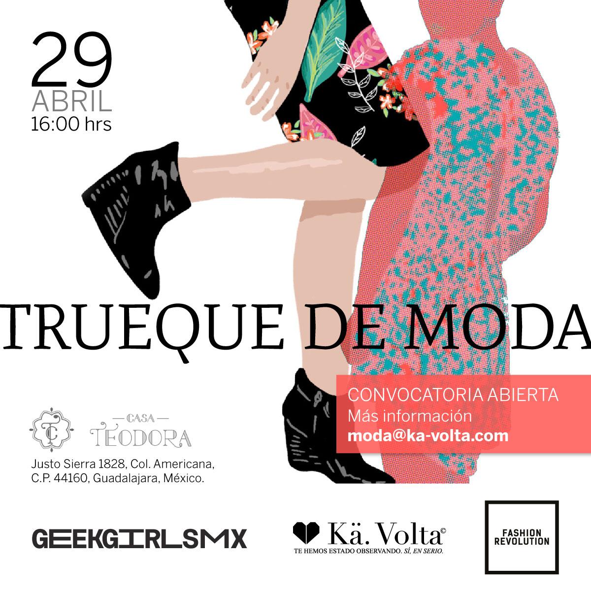 Trueque de Moda, 29 de Abril en Casa Teodora