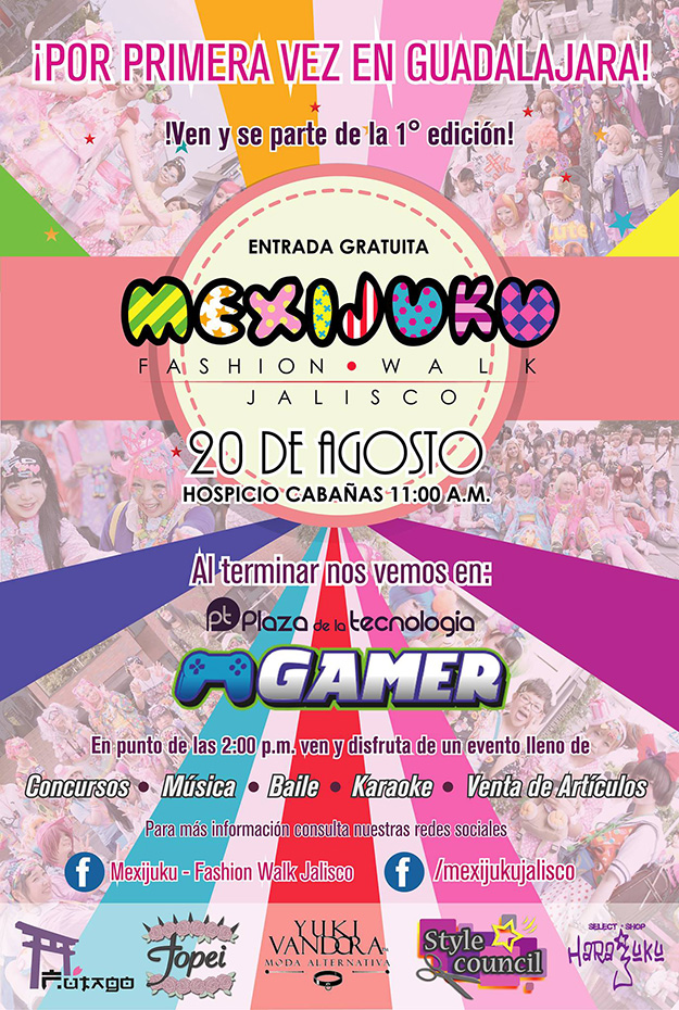 """""""Mexijuku Fashion Walk"""", 20 de Agosto en Hospicio Cabañas"""