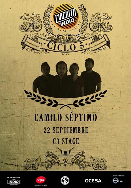 #CircuitoIndio: Camilo Séptimo - 21 de Septiembre @ C3 Stage