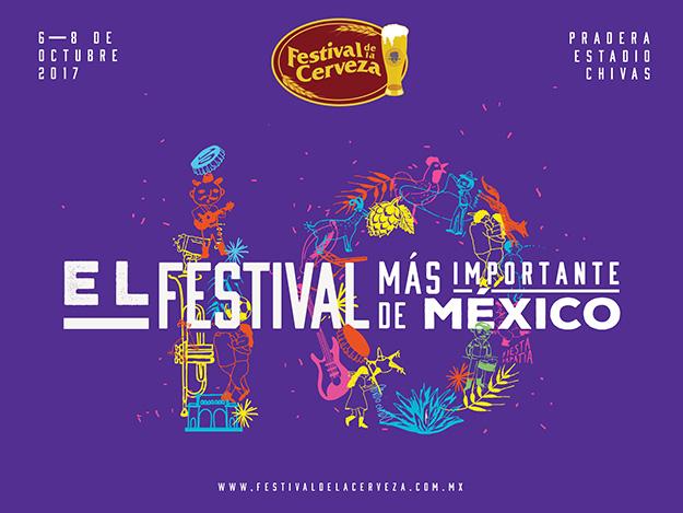 10mo Festival de la Cerveza, 6 al 8 de Octubre en Pradera Estadio Chivas