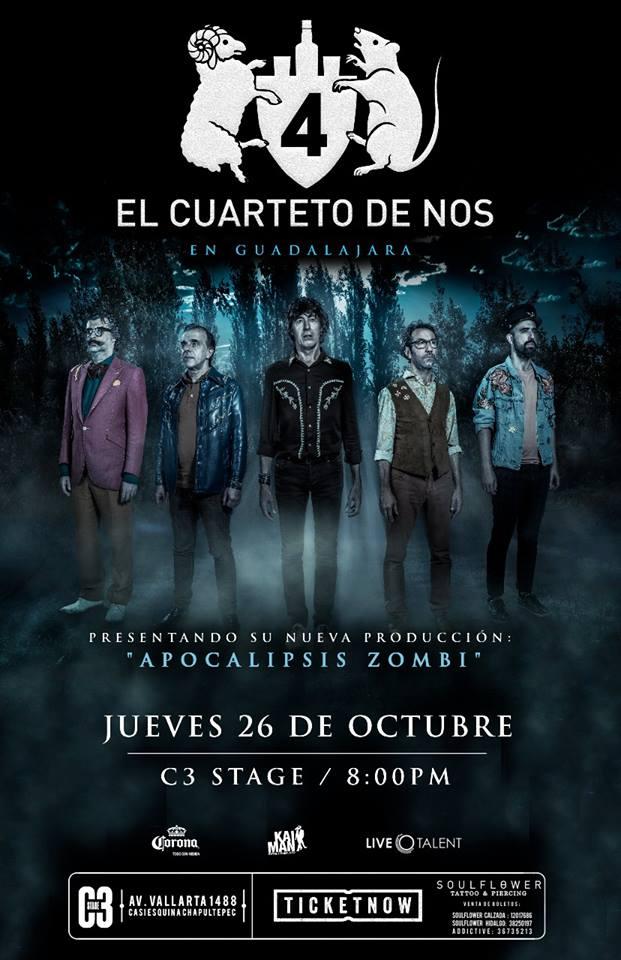 Cuarteto de Nos - 26 de Octubre @ C3 Stage