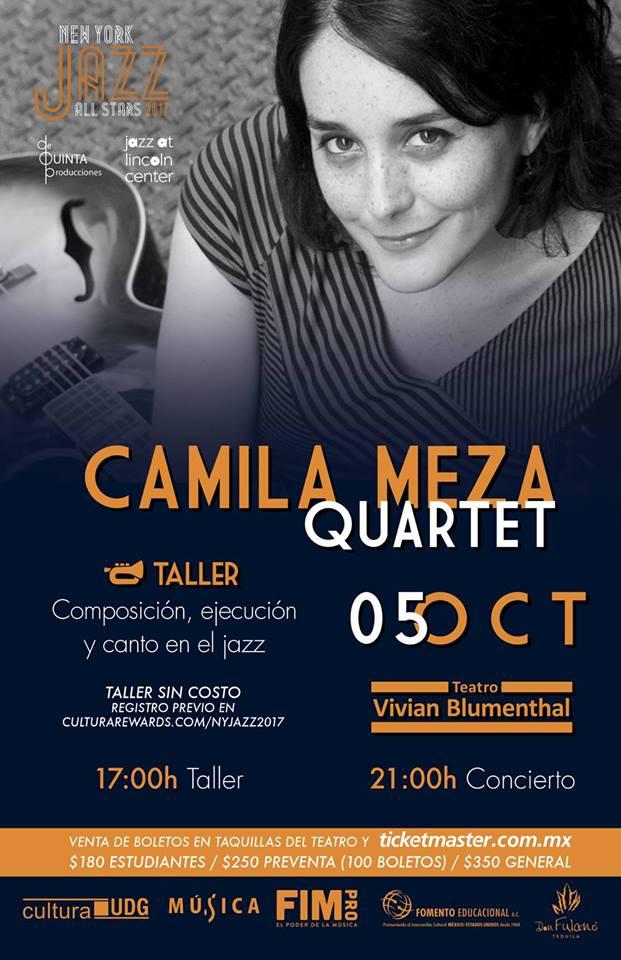 CAMILA MEZA QUARTET - 5 de Octubre @ Teatro Vivian Blumenthal