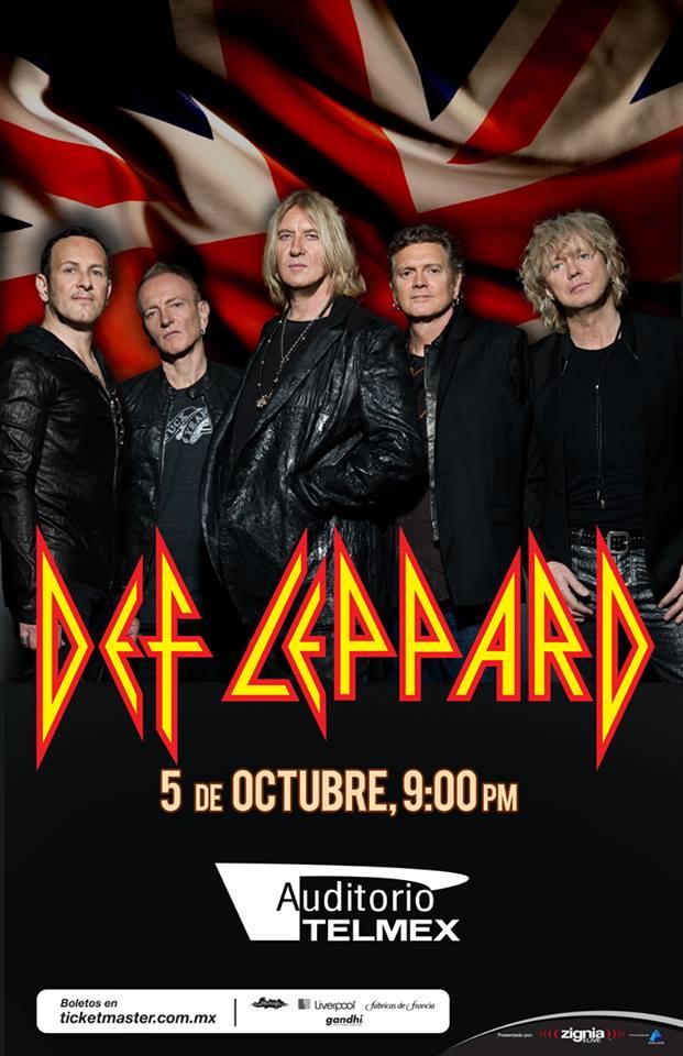 DEF LEPPARD - 5 de Octubre @ Auditorio Telmex