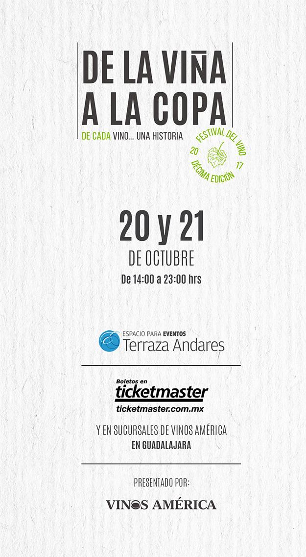 Festival de la Viña a la Copa, 20 y 21 de Octubre en Terraza Andares