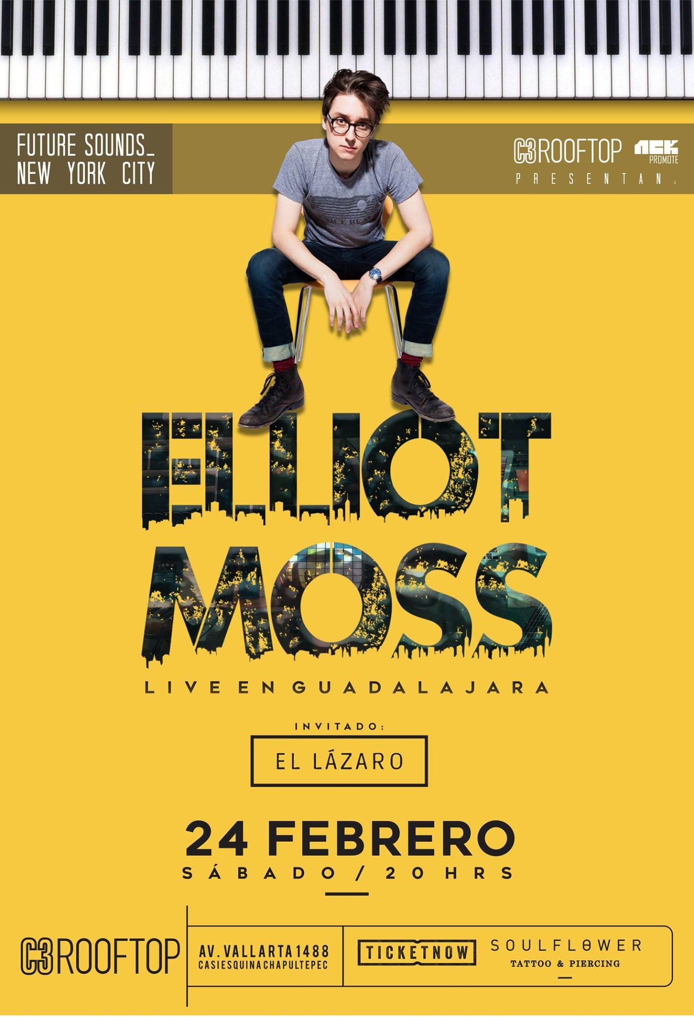 Elliot Moss - 24 de Febrero @ C3 Stage Rooftop