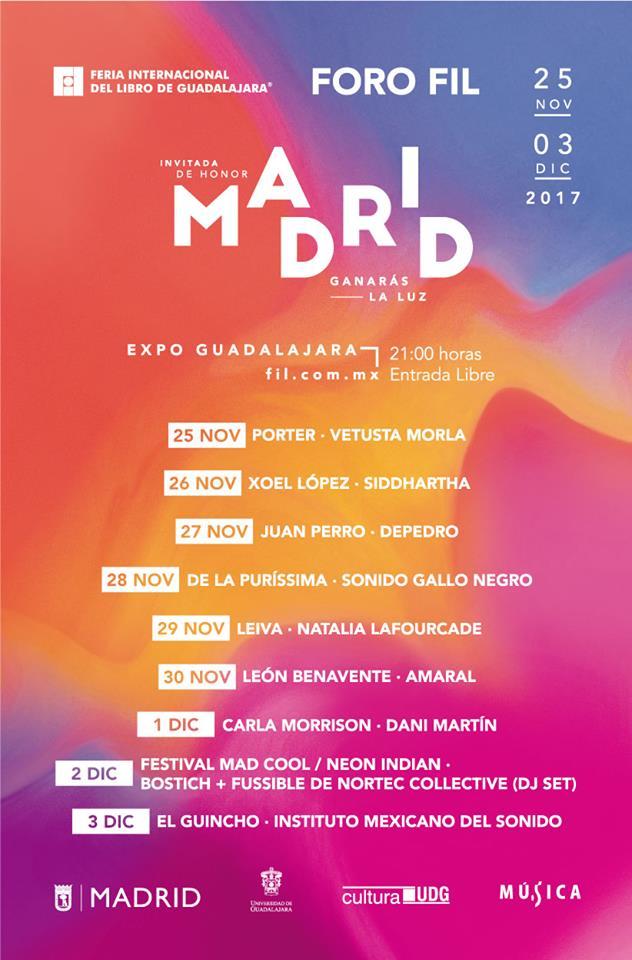 noviembreIL Vetusta Morla / Porter - 25 de Noviembre @ Expo Guadalajara