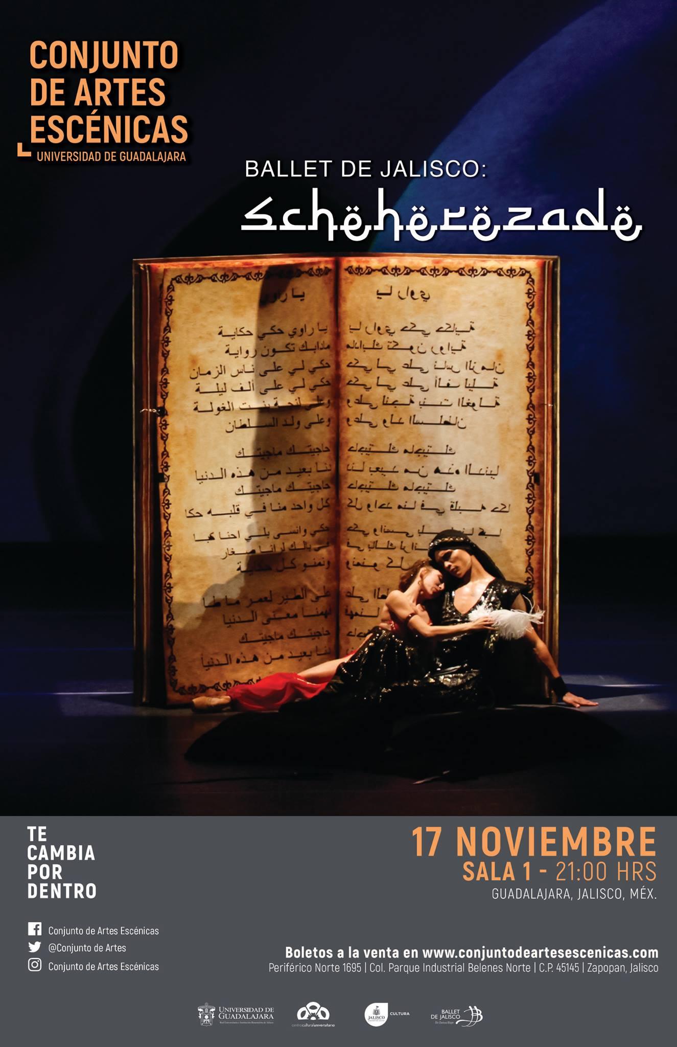 El Ballet de Jalisco presenta Scheherazade, 17 de Noviembre en Conjunto de Artes Escénicas