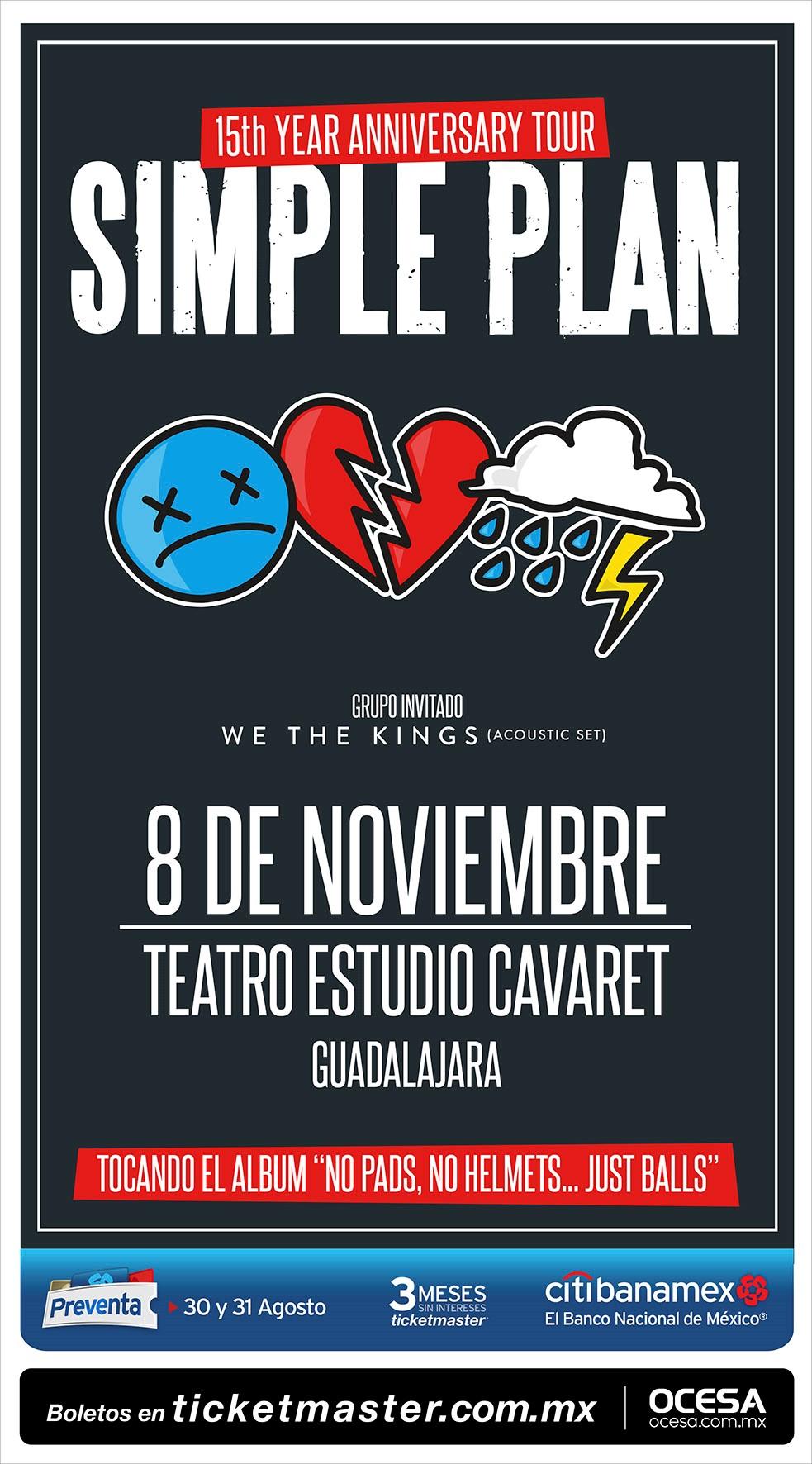 Simple Plan - 8 de Noviembre @ Teatro Estudio Cavaret