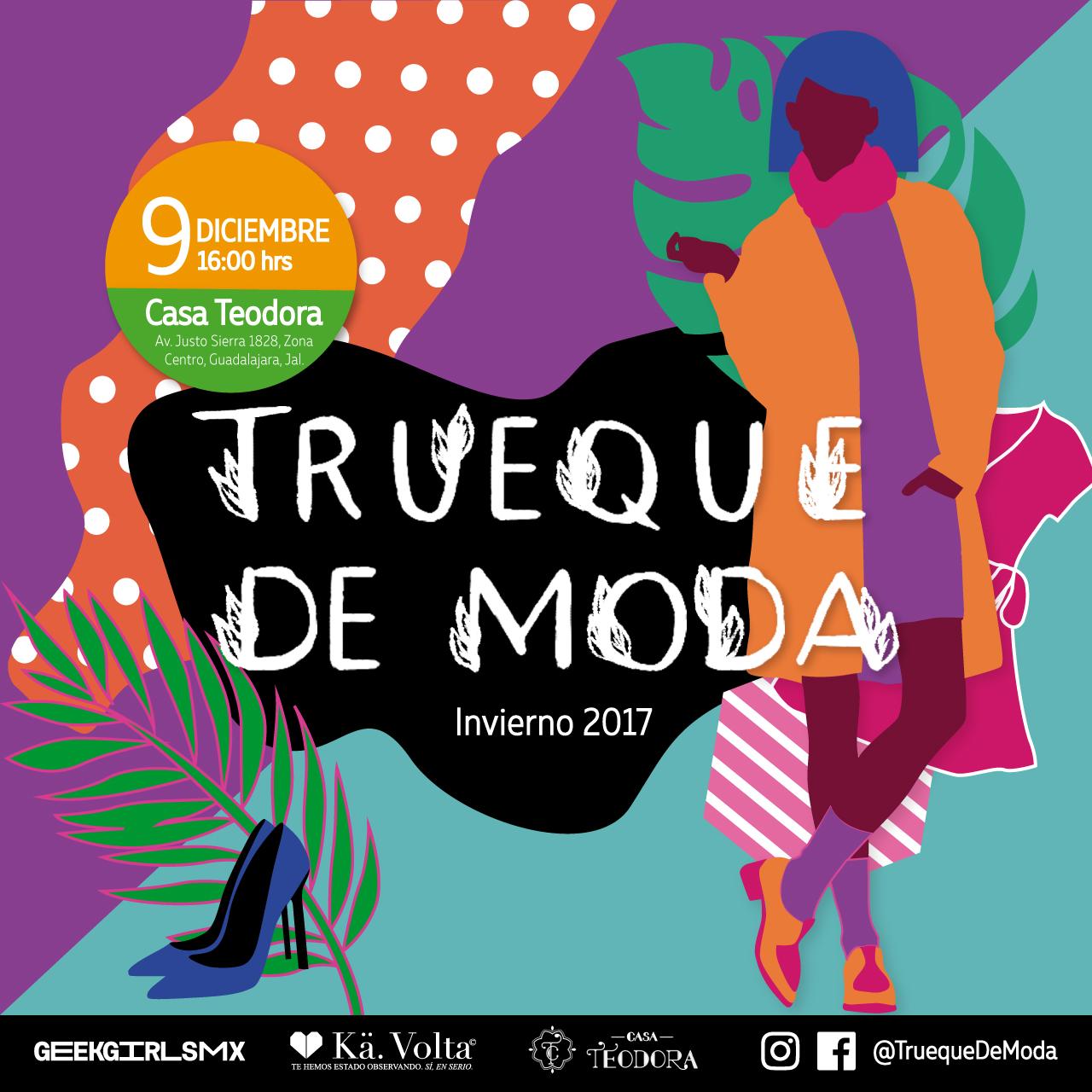 Trueque de Moda, Invierno 2017 - 9 de Diciembre en Casa Teodora