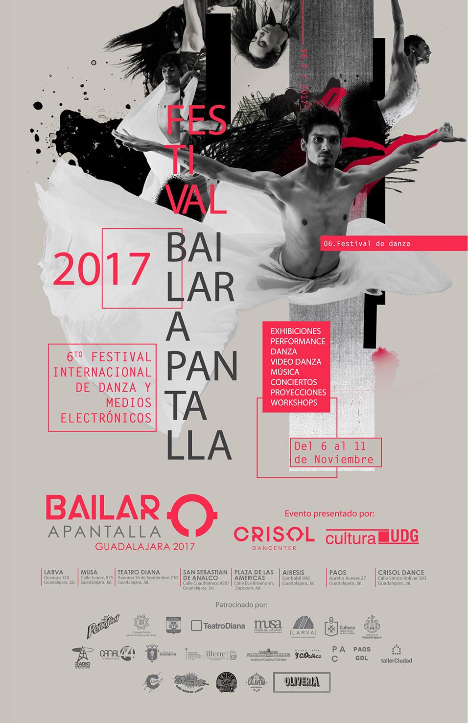 Bailar Apantalla, del 6 al 11 de Noviembre en Guadalajara