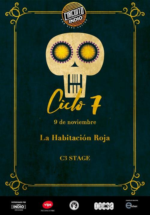 #CircuitoIndio La Habitación Roja - 9 de Noviembre @ C3 Stage