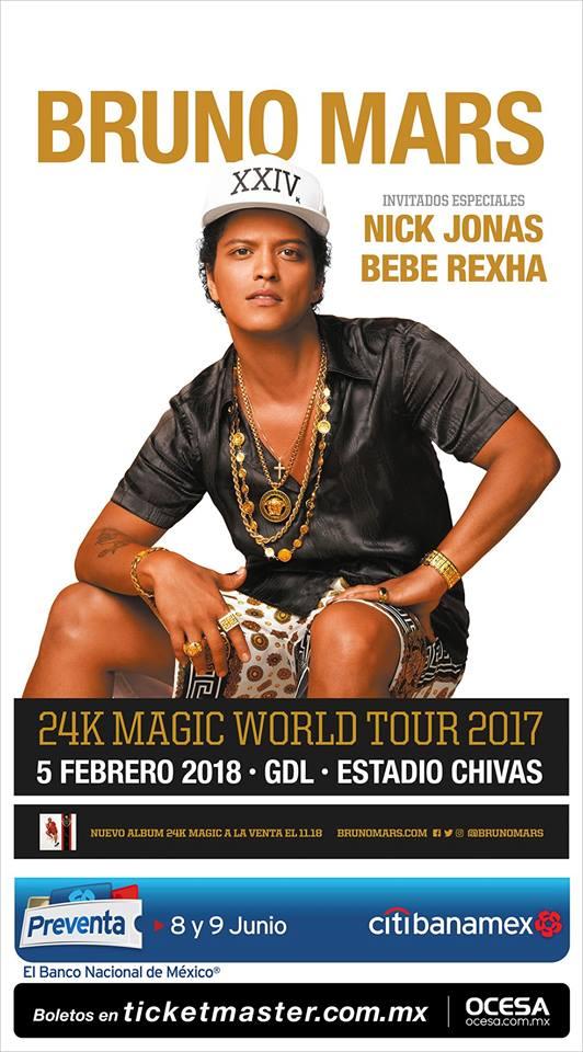 BRUNO MARS - 5 de Febrero @ Estadio Chivas
