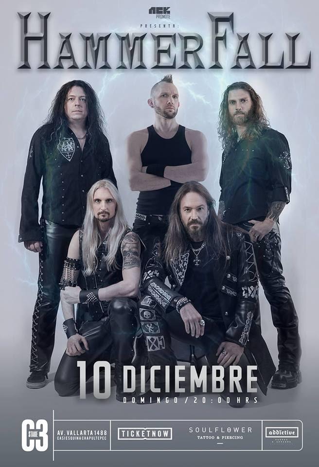 Hammerfall - 10 de Diciembre @ C3 Stage
