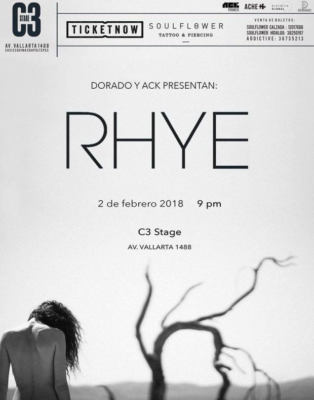 RHYE - 2 de Febrero @ C3 Stage