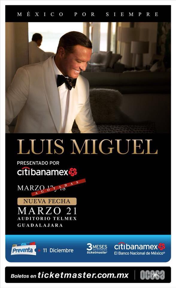 Luis Miguel - 17, 18, 21 y 22 de Marzo @ Auditorio Telmex