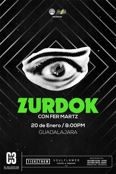 Zurdok con Fernando Martz - 20 de Enero @ C3 Stage