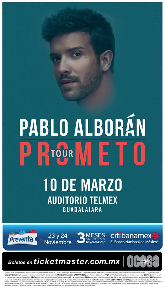 Pablo Alborán - 10 de Marzo @ Auditorio Telmex