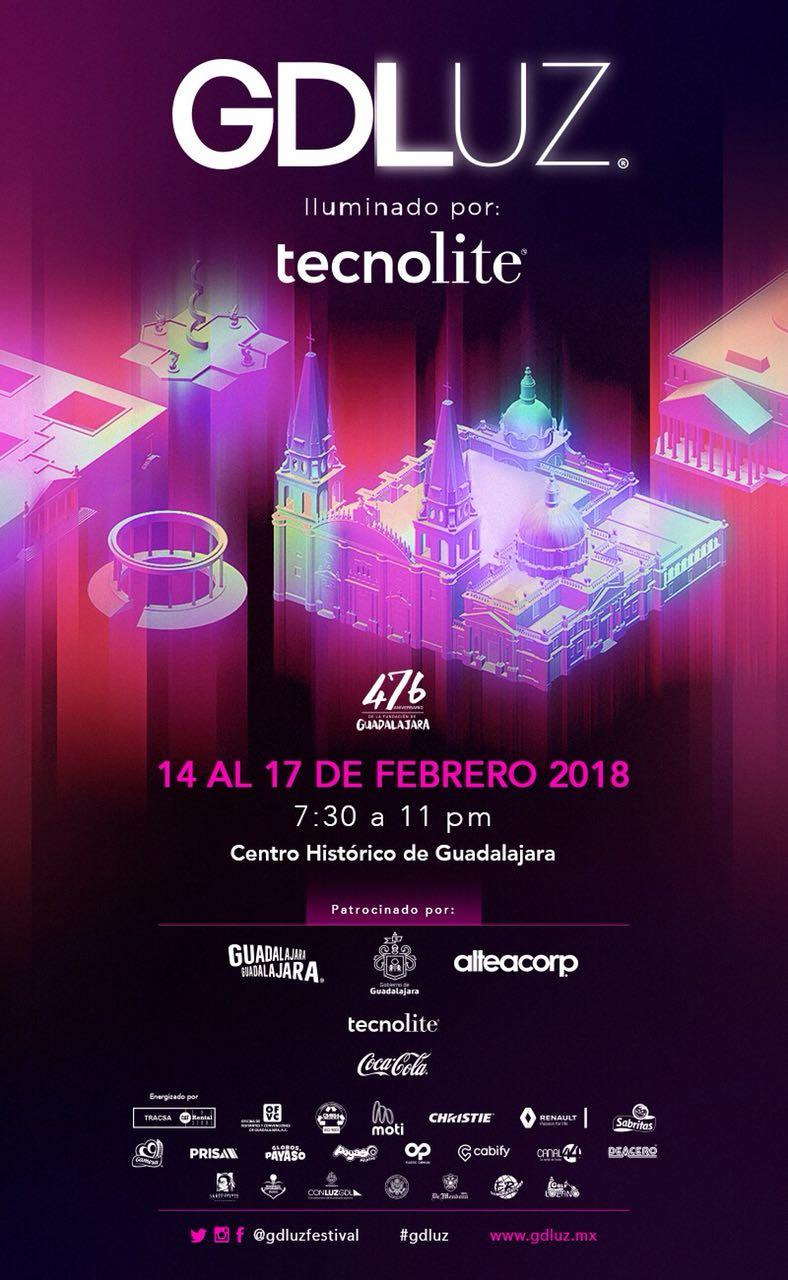 GDLuz - Del 14 al 17 de Febrero @ Centro Histórico de Guadalajara