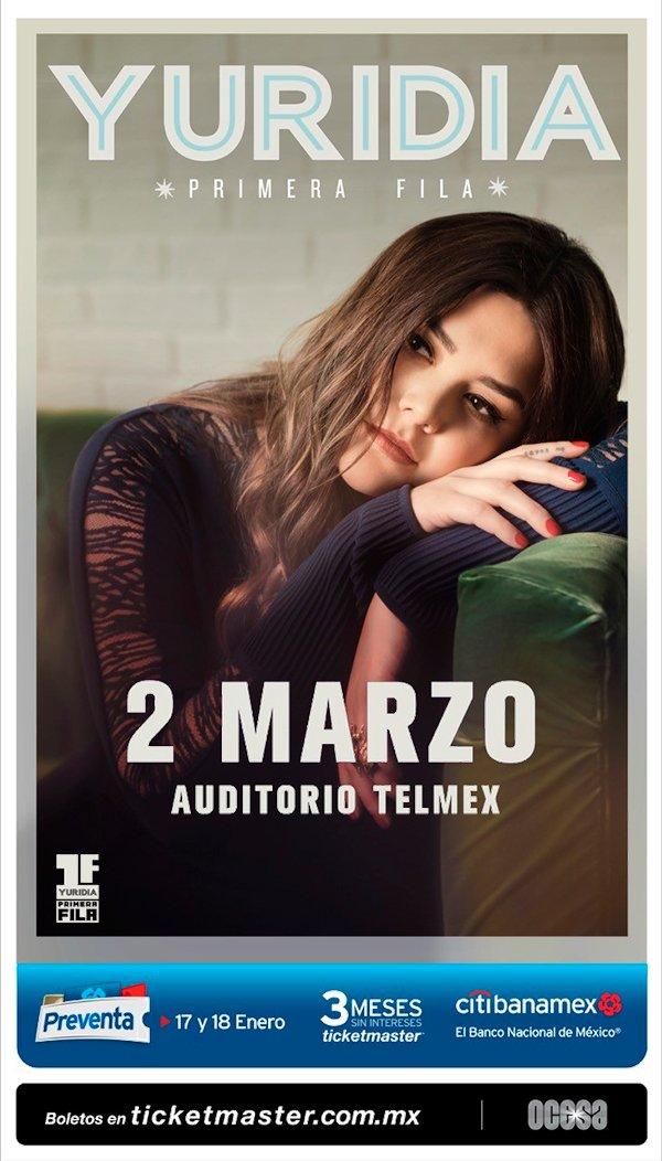 Yuridia - 2 de Marzo @ Auditorio Telmex