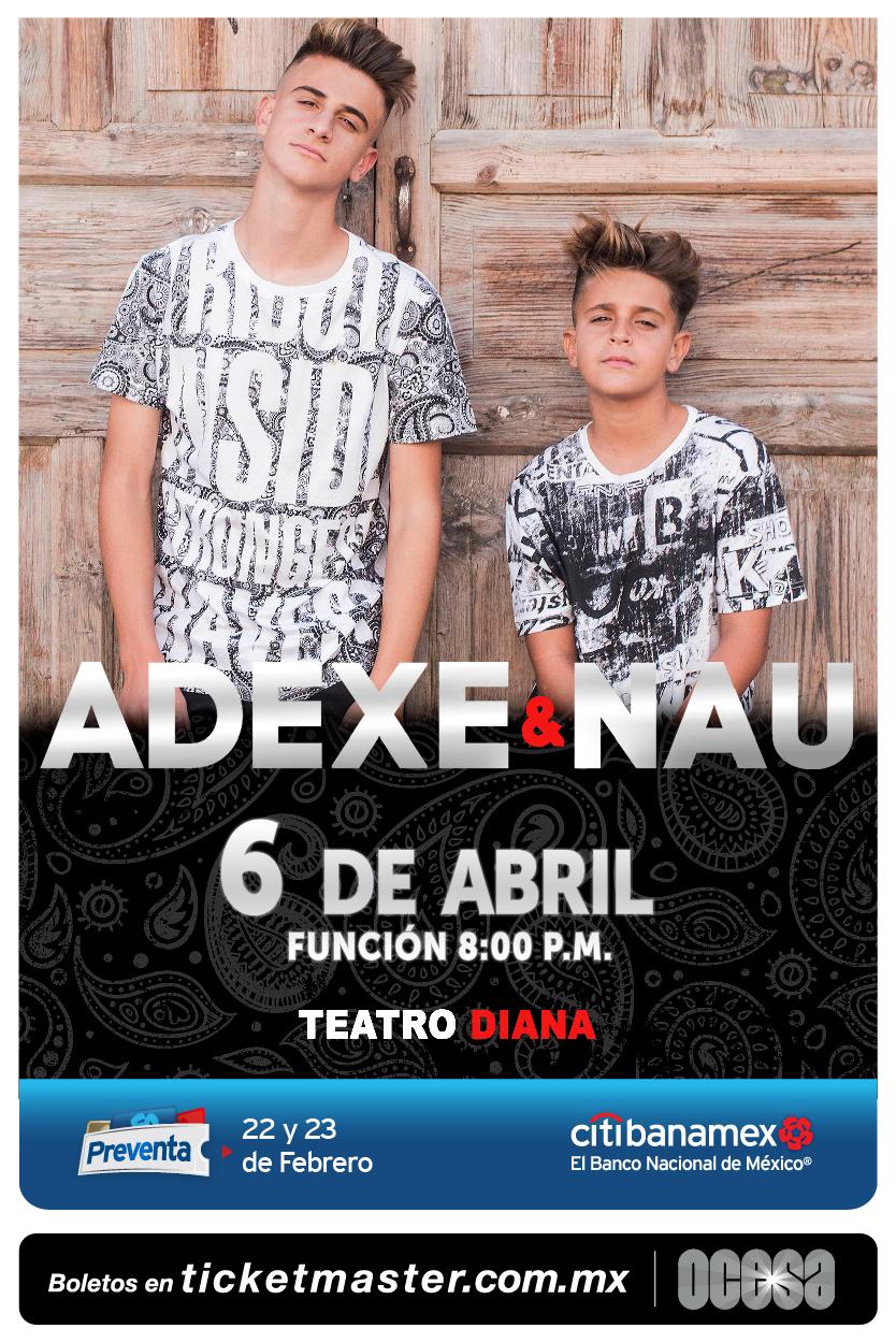 Adexe & Nau - 6 de Abril @ Teatro Diana