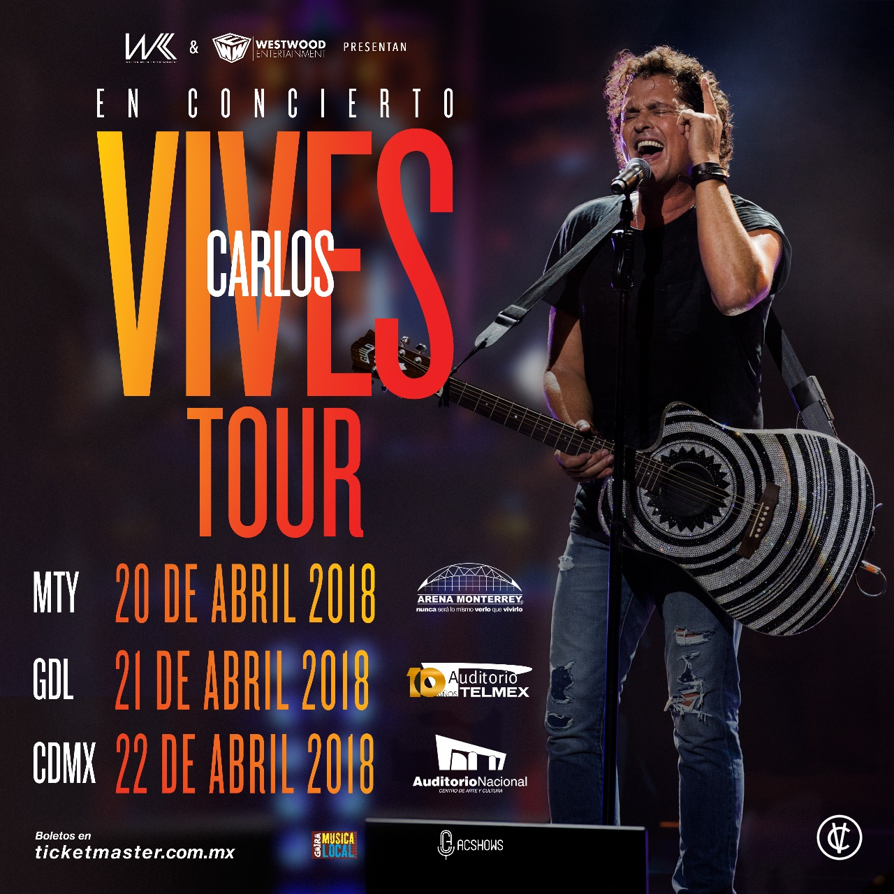 Carlos Vives - 21 de Abril @ Auditorio Telmex