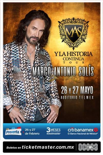 Marco Antonio Solis - 26 y 27 de Mayo @ Auditorio Telmex