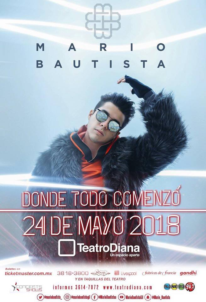 Mario Bautista - 24 de Mayo @ Teatro Diana