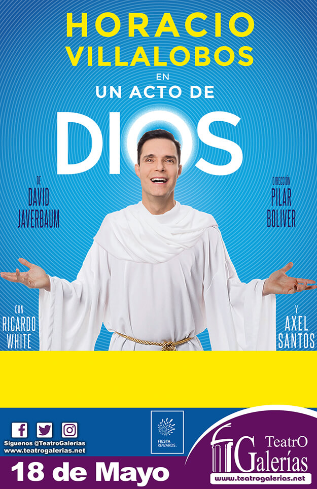 Un acto de Dios - 18 de Mayo en Teatro Galerías
