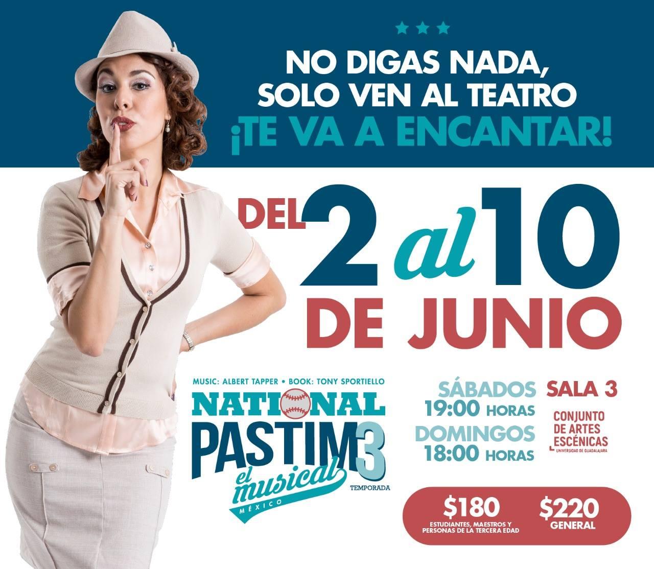 National Pastime, Tercera Temporada - 2 al 10 de Junio en Conjunto de Artes Escénicas
