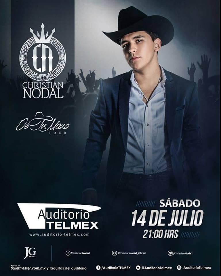Christian Nodal - 14 de Julio @ Auditorio Telmex
