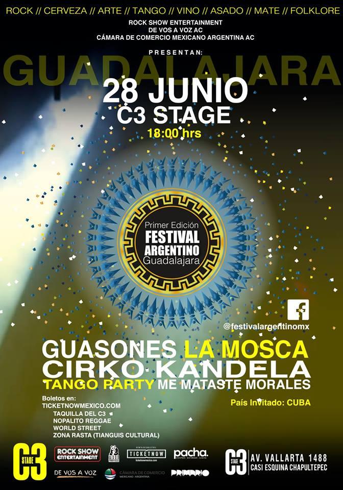 Festival Argentino - 28 de Junio @ C3 Stage