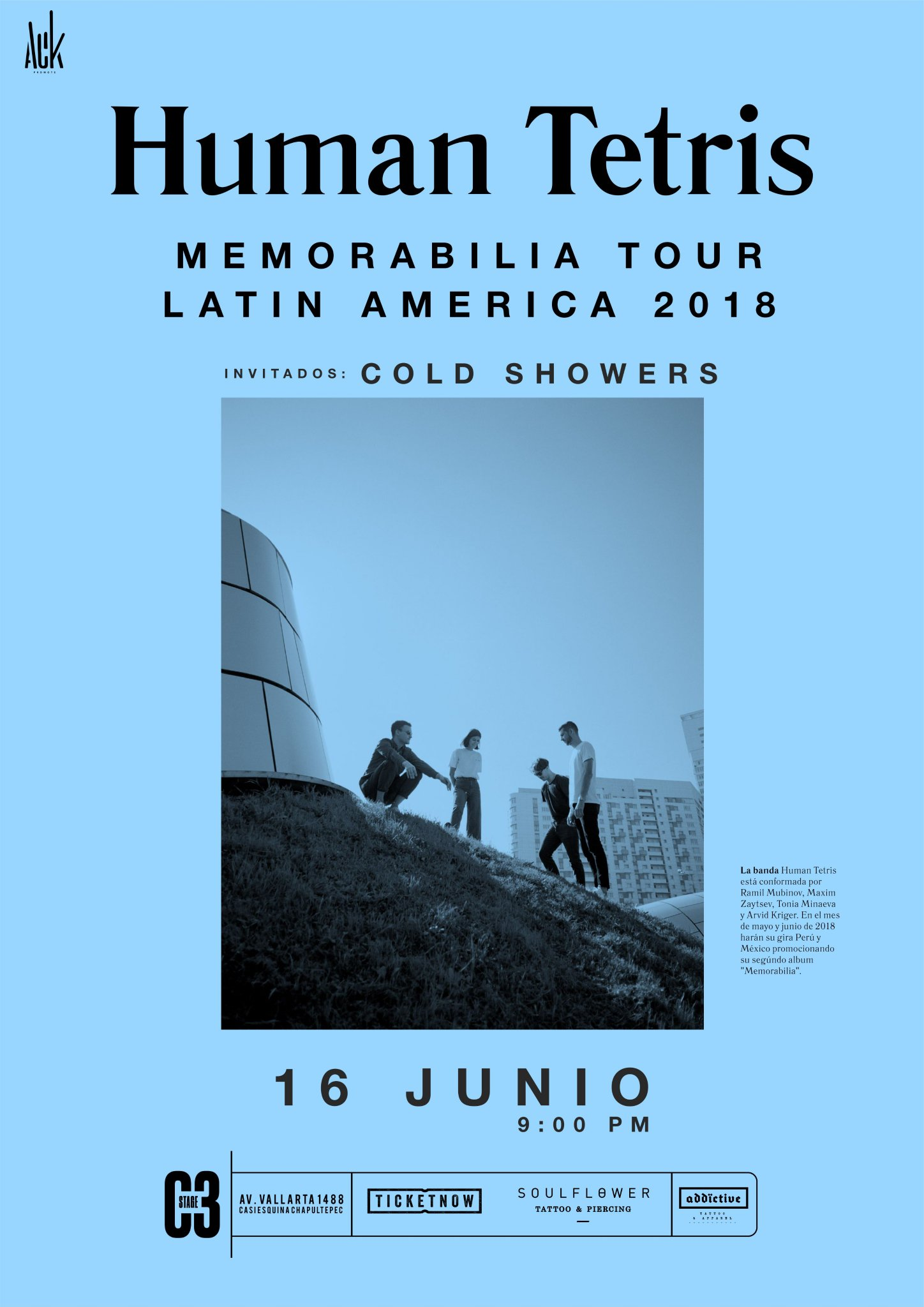 Human Tetris + Cold Showers - 16 de Junio @ C3 Stage