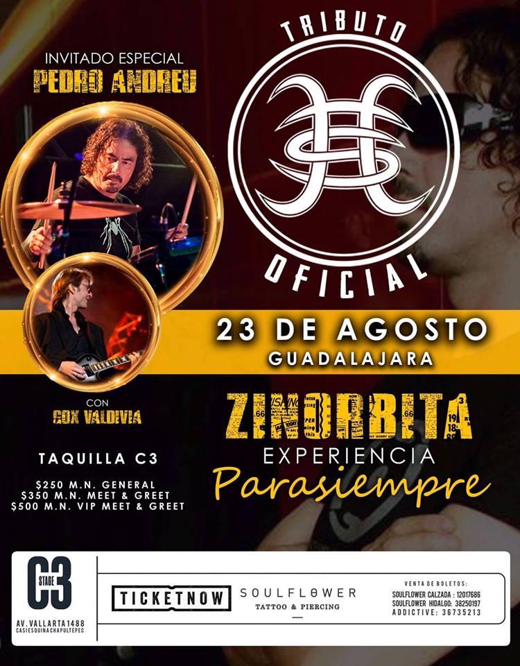 Zinorbita: Tributo a Héroes del Silencio - 23 de Agosto @ C3 Stage