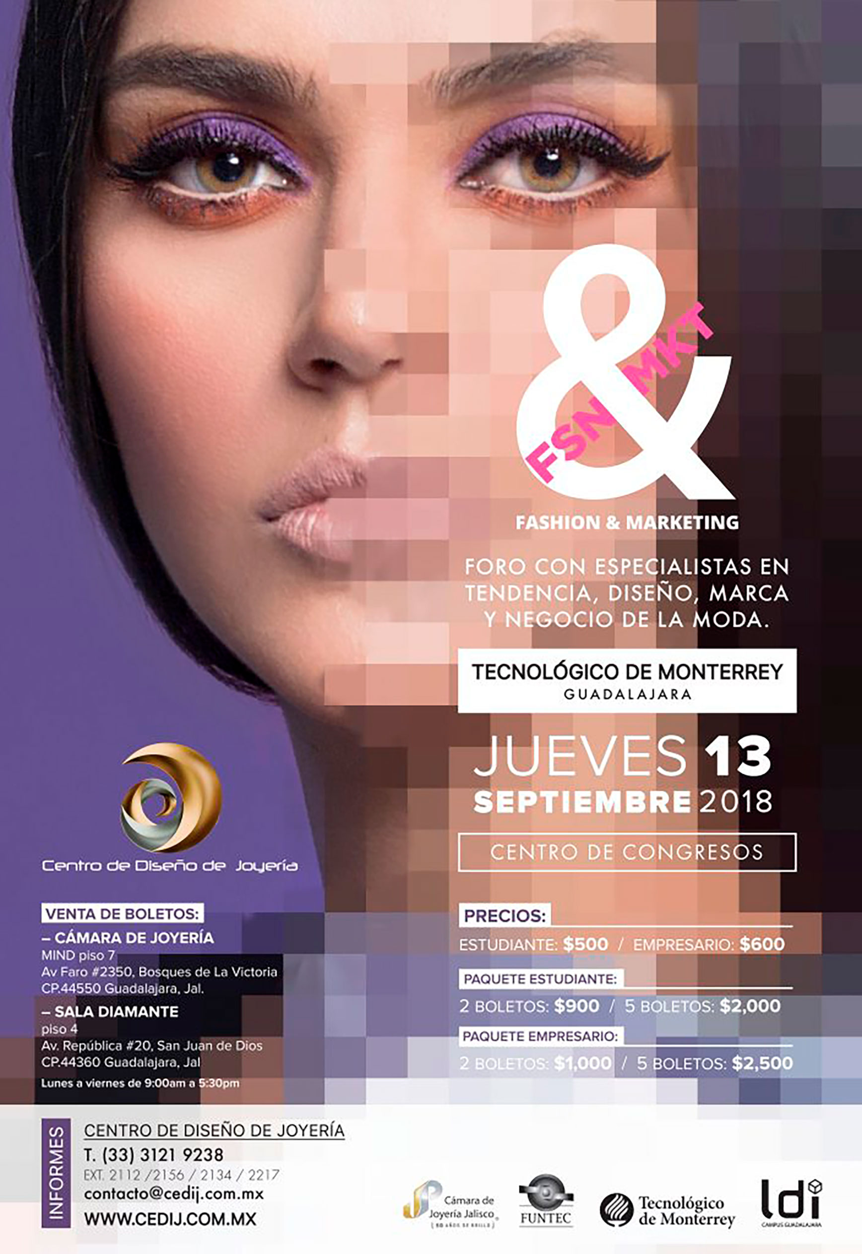 Foro Fashion & Marketing 2018 - 13 de Septiembre en Tec de Monterrey Campus Guadalajara
