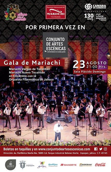 Gala de Mariachi - 23 de Agosto @ Conjunto de Artes Escénicas