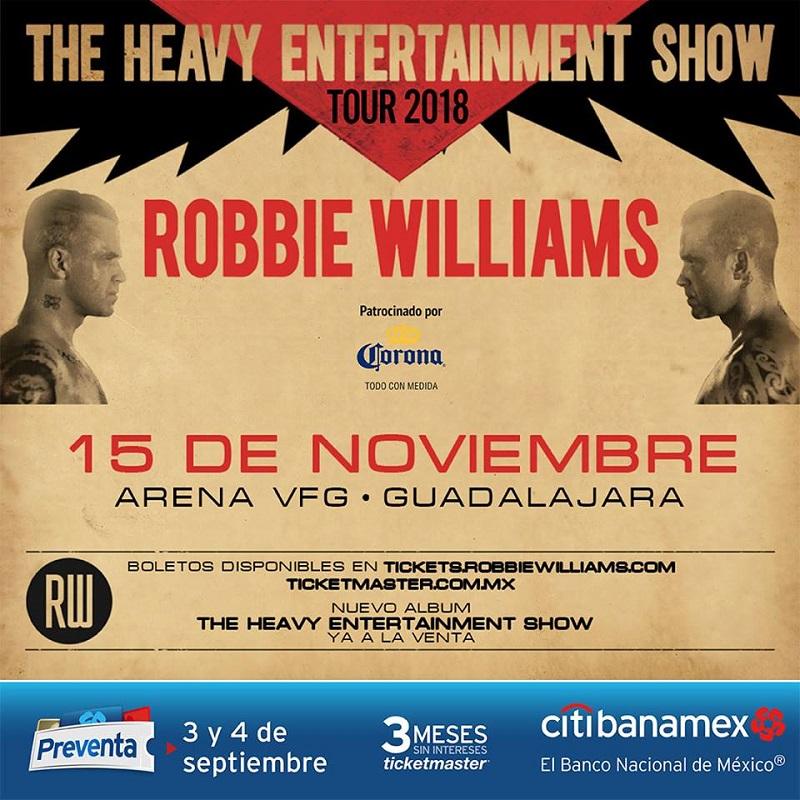 Robbie Williams - 15 de Noviembre @ Arena VFG
