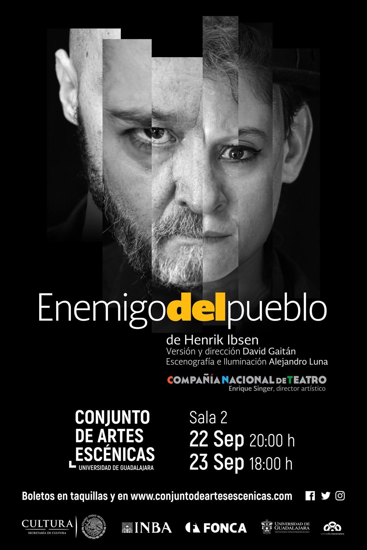 Enemigo Del Pueblo - 22 y 23 de Septiembre en Conjunto de Artes Escénicas