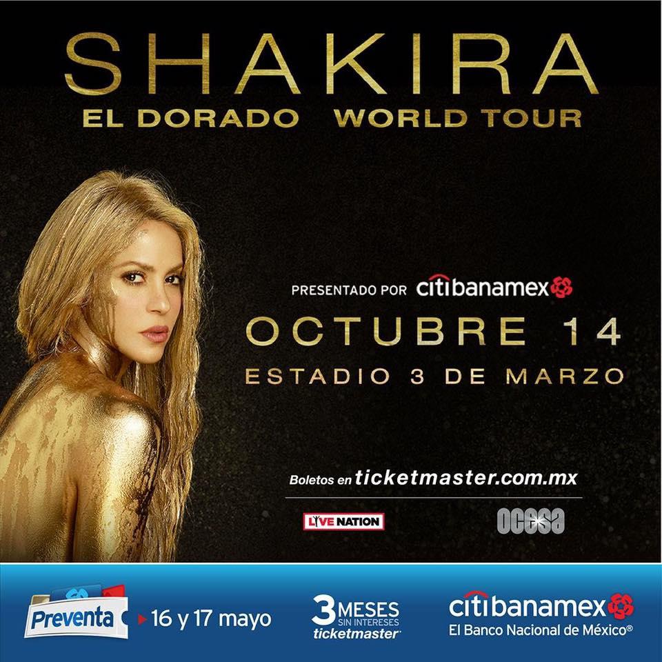 Shakira - 14 de Octubre @ Estadio 3 de Marzo