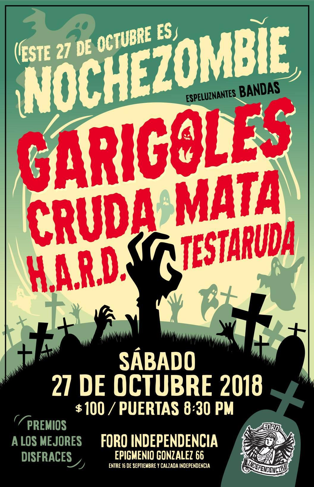 Noche Zombie con Los Garigoles - 27 de Octubre @ Foro Independencia