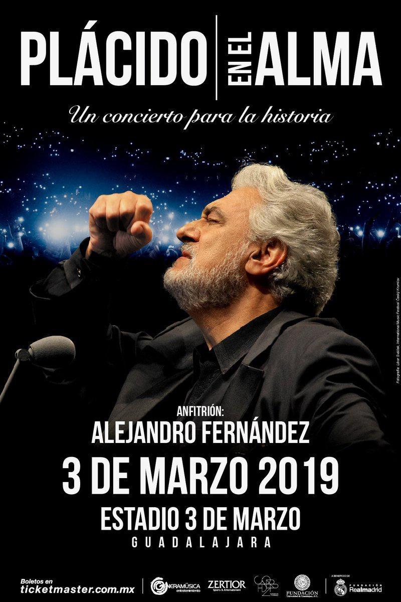 Plácido En El Alma, 3 de Marzo en Estadio 3 de Marzo