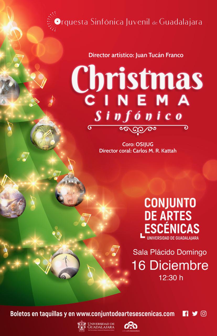 """""""Christmas Cinema Sinfónico"""" por la OSIJUG, 16 de Diciembre en CAE"""