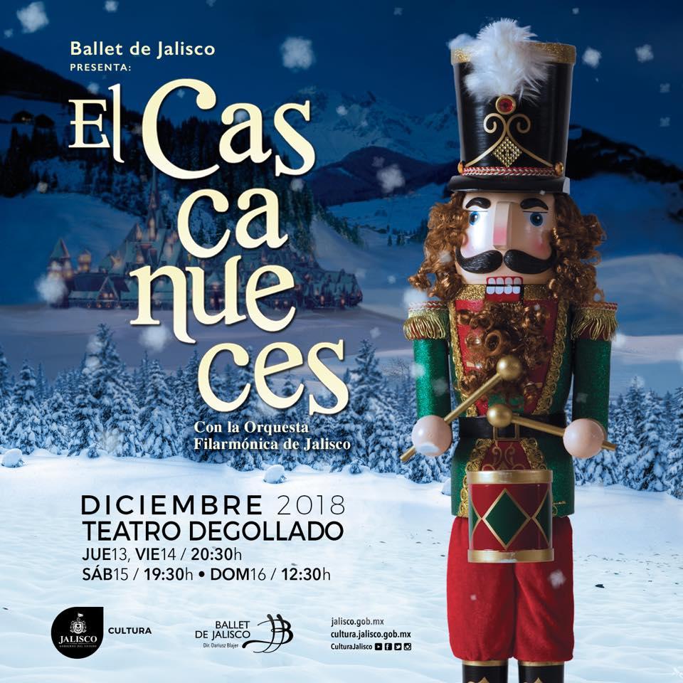 """""""El Cascanueces"""" con el Ballet de Jalisco y la OFJ, 13 al 16 de Diciembre en Teatro Degollado"""