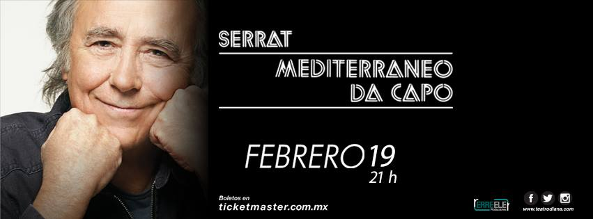 Concierto: Joan Manuel Serrat, 19 de Febrero en Teatro Diana