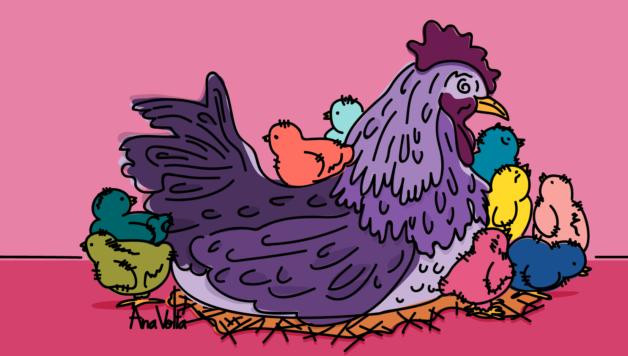 la mamá gallina