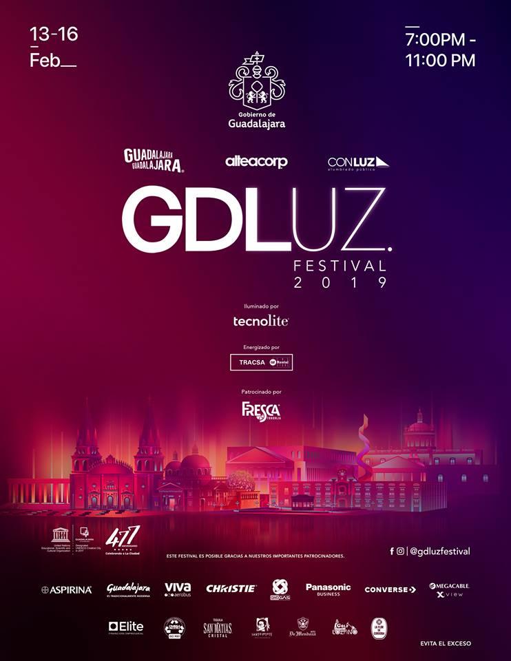 GDLuz Festival 2019, del 13 al 16 de Febrero en Guadalajara