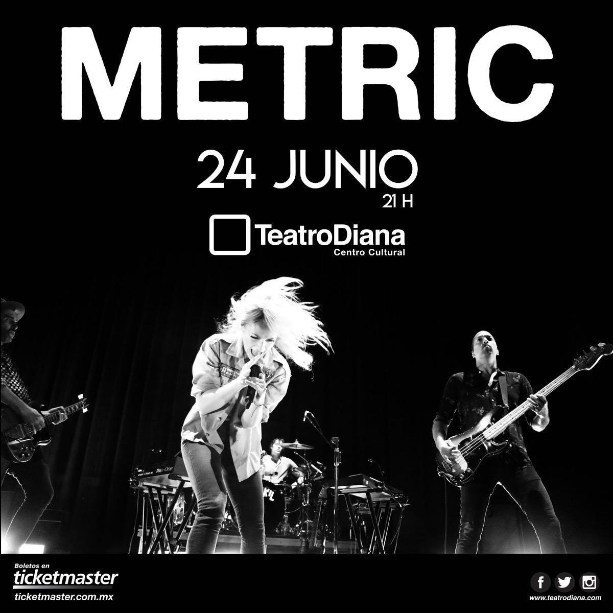 Metric, 24 de Junio en Teatro Diana
