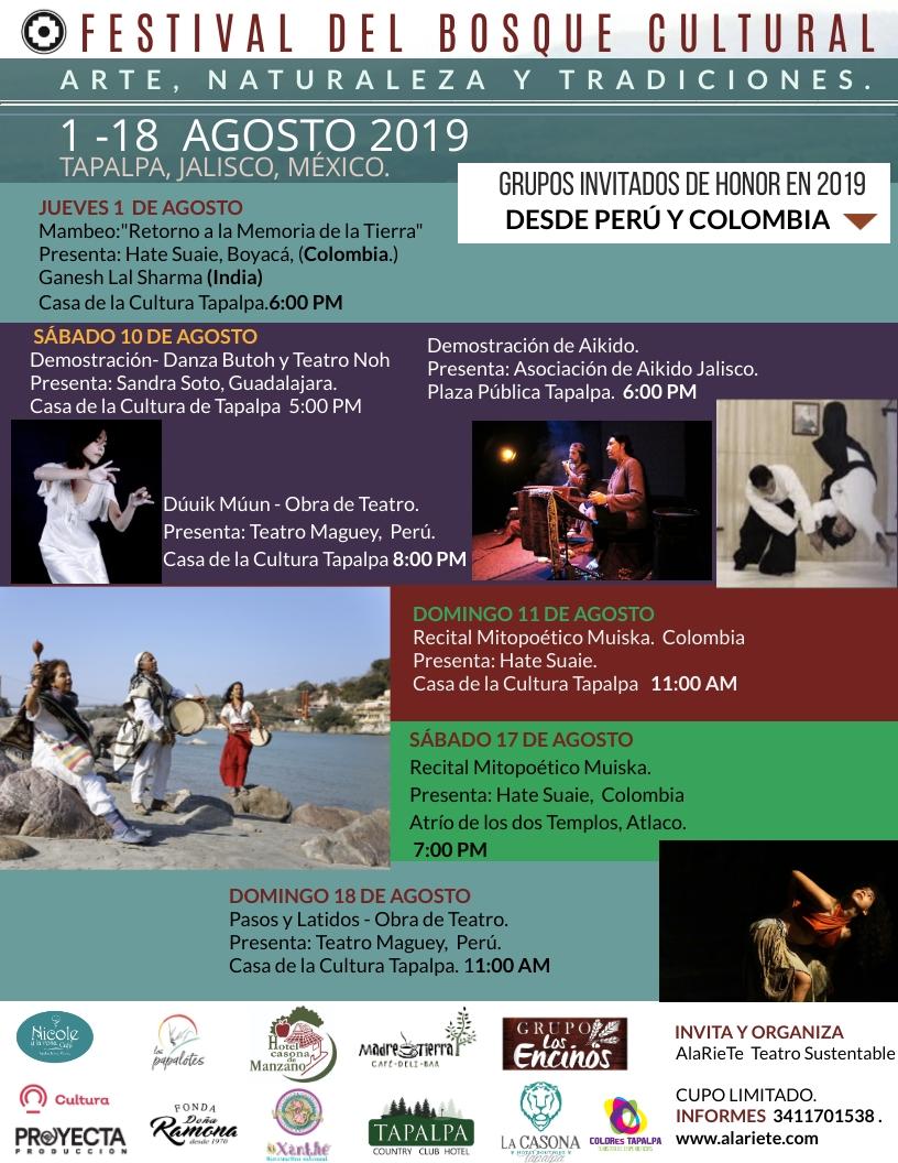 Festival del Bosque Cultural Tapalpa 2019 - 1 al 18 de Agosto en Tapalpa, Jalisco